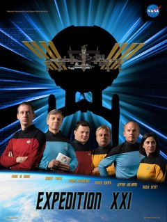 ISSの第21次長期滞在ポスター